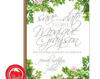 Rustic Tree Save The Date Card
