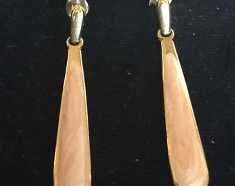 Peach colored earings