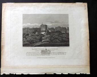 Londina illustrata C1830 Print. The Swan Theatre, London