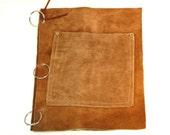 vintage leather journal / vintage leather binder
