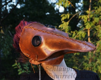 Plague Doctor mask. Cosplay, Steampunk Costume, LARP, Renaissance, Leather mask, Horror, Halloween,  Steampunk