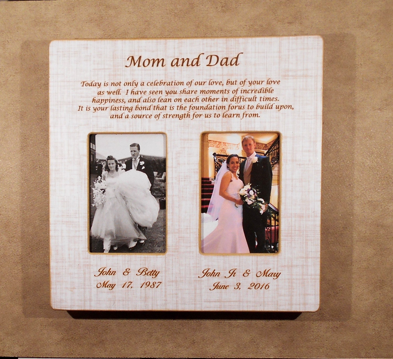 In-Laws WEDDING GIFT PARENTS Bride Gift to Parents Groom