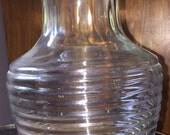 Art Deco Manhattan Juice Carafe w Lid by Anchor Hocking 8 Inch Tall Retro