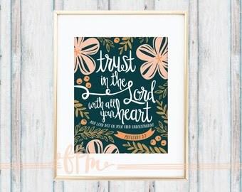 Proverbs 3:5 Print
