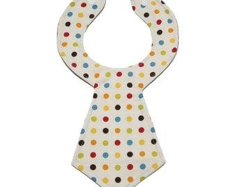 Designer Dot Baby Necktie Bib