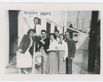 Vintage Snapshot Photo: Script Dept. c1940s (69503)