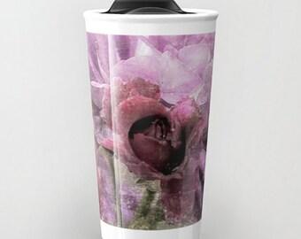 Travel Mug Coffee Mug Dusty Pink Rose