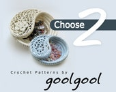 2 crochet patterns discount bundle, Choose any 2 patterns. Instant download last minute gift.