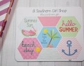 Summer, Beach Hexagon Planner Stickers (002) - inkWELL Press Planners, Erin Condren, Kikki K