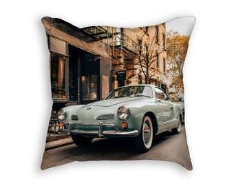 Volkswagen Karmann Ghia Photo Pillow Cover, VW Pillow, Volkswagen Pillow Case, 18x18 New York Pillow Case, NYC Gift, VW Gift