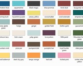 Color Chart ~ Not For Sale