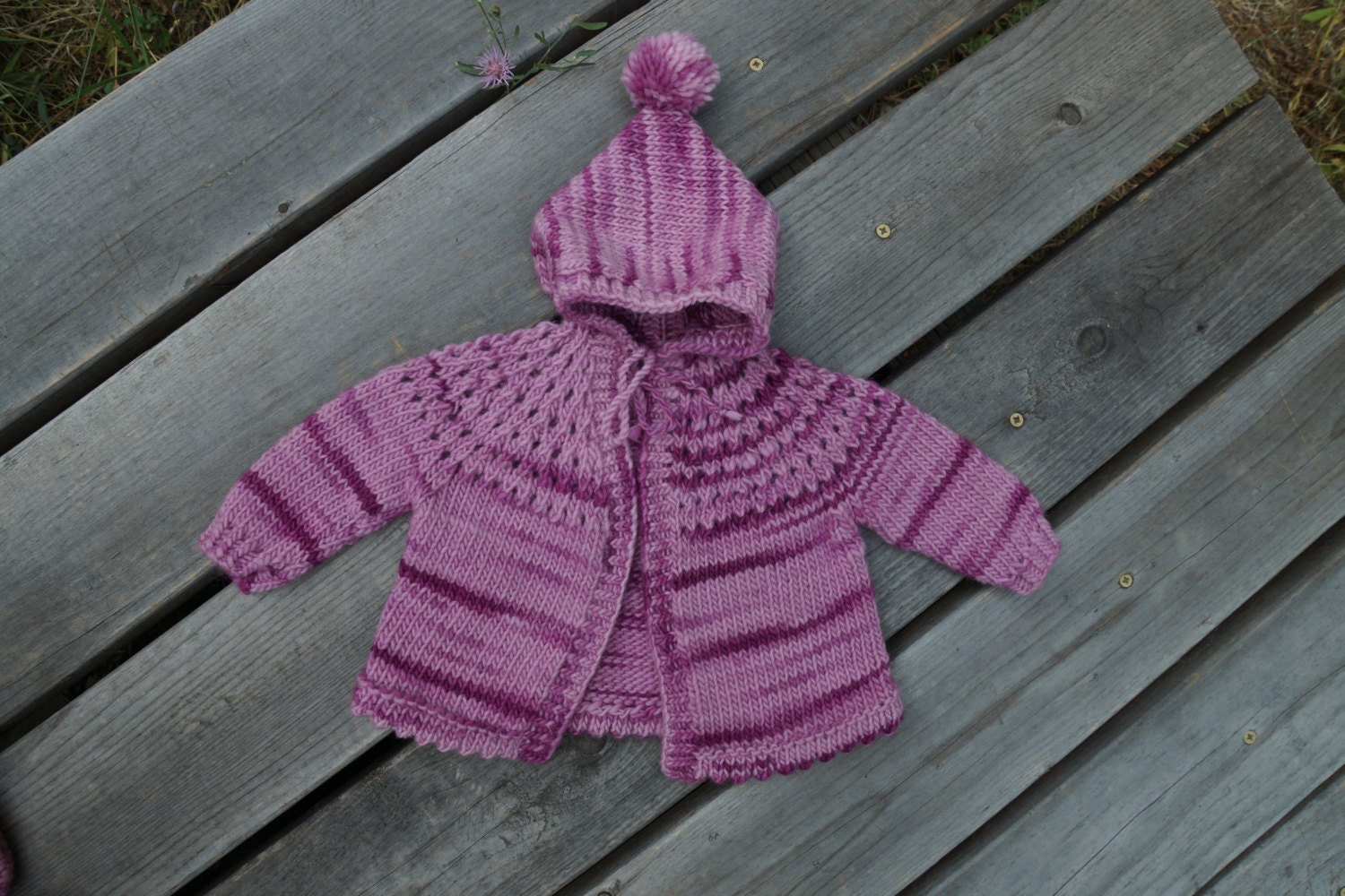 Knitting Pattern Cardigan For 18 Months : Baby Hooded Cardigan PDF Knitting Pattern size 6-18 months.