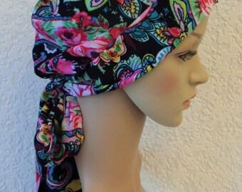 Chemo headwear, head snood, tichel, stylish head covering, women's bandana, short hair wrap, chemo hats, bonnet for short hair