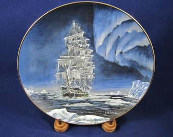 The Rescue, Legendary Ships of the Seas Series, Royal Cornwall Ltd, Collector Plate, Signed A D Estrehan, 1980, #9676, Nautical