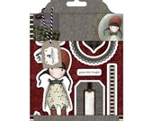 "SIMPLY GORJUSS   "" HOLLY   ""   CHRISTMaS - SANTOROs Cling Stamp Set -  New !!  Urban stamps - DoCrafts"