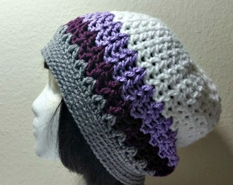 CLEARANCE Crochet Womens Hat - Hipster Slouchy - Slouchy Beanie