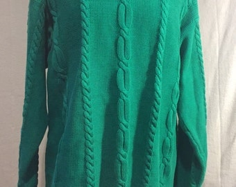 Kelly green oversized comfortable sweater