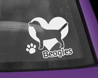 Beagle Love Decal