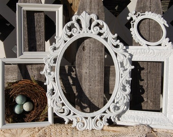 Shabby Chic Picture Frame Set Rustic Farmhouse Frames Wedding Nursery Picture Frames