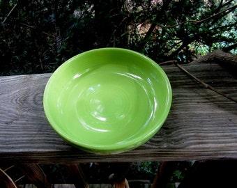 vintage fiesta chartreuse individual salad bowl circa 1950