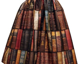 Bookcase Midi Full Skirt