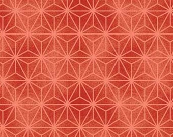 Red Rooster Fabric Akahana Geometric Texture in Red Quilting Sewing Crafting 100% Cotton