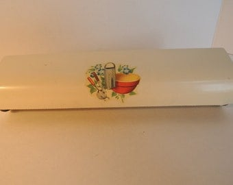 Wax paper Tin foil holder, Aluminum foil, Decal, Wall mount, Vintage