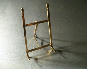 Vintage Brass Plate Stand -  Art Easel