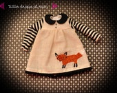 fox - hand embroided dress for Blythe