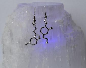 Biolojewelry -  Asymmetrical - Serotonin & Dopamine Earrings