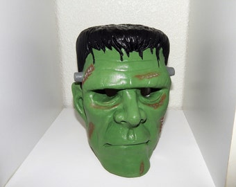 Hand Painted Plaster Frankenstein Head Light Up Decoration