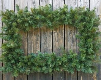 Christmas Wreath, Holiday Wreath, Pine Wreath, Rectangular Christmas Wreath, XXL Wreath, Large Wreath
