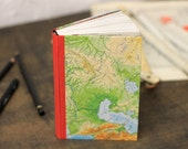 """Travel Journal """"Journey"""", Hand Bound Notebook from Old Maps"""