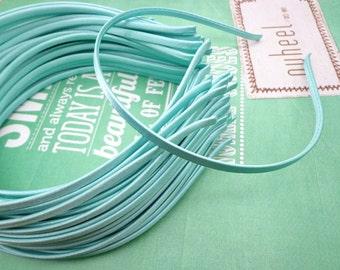 10 pcs  Green Cloth Covered Headband 5mm Wide