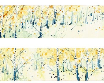 1 Roll of Limited Edition Washi Tape: Birch Woods Forrest