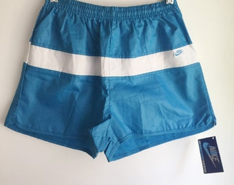 Deadstock Women's Nike Teal Running Shorts Size Medium