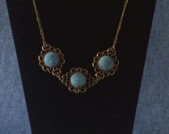 SALE! Denim Antique Bronze Necklace