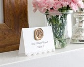 Escort Cards- Wedding place cards-Personalized Wedding Place Cards-Seating cards- Wax Seal Place Cards-Tented Place Cards-Set of 100
