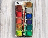 WATERCOLOR iPhone 5/5S White Bumper Case
