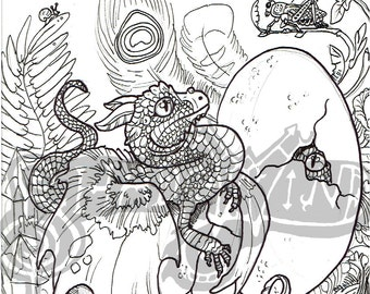 Hatchings digital Download coloring page