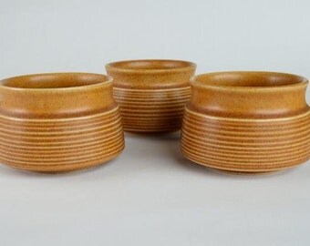 3 Denby  Langley Canterbury Soup, Fruit or Dessert Bowls Made in England