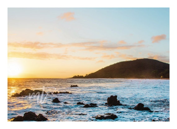 Sunset at Makena Beach in Maui Hawaii