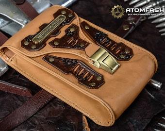 Desert stalker post apocalyptic leather hip bag