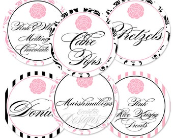 Paris Party Candy Buffet Labels -You Print- Candy Buffet Labels   Paris Party   Princess Party   Paris Theme Party   Baby Shower   Birthday