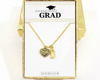 High School Graduation Gift, Personalized Graduation Necklace, 2016, Class of 2016 High School Graduation College Graduation