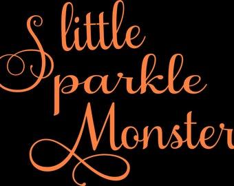 Little Sparkle Monster Svg Instant Download Cutting Machine File Fancy Font Halloween Svg Sparkle Svg Monster Svg
