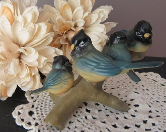 Wilton Vintage  Cake Topper Birds on A Branch 1973 Momma and Babies Bird Watcher Cake Decoration Nature