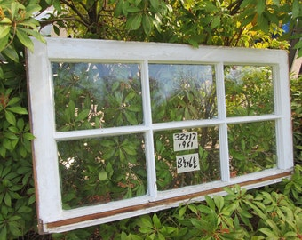 32 x 17 Vintage Window sash old  6 pane from 1961
