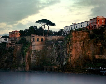 Italy Photograph, Naples Italy, Italian Coast Photo, Italy Art, Bay of Naples, Italy Photography, Fine Art Photography, Brown Green