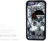 Sugar Skull iPhone 6 6s Case - Flapper Girl Day of the Dead iPhone 6s BUMPER Case - Art Deco Skull Case for Apple iPhone 6 6s